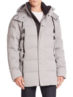 ANDREW MARC Debossed Down Parka. #andrewmarc #cloth #parka