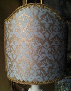 Venetian Lamp Shade Fortuny Fabric Delfino by OggettiVeneziani