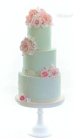 Wedding Cakes - Whimsical & Floral The Whimsical Cakery - Elegant bespoke wedding cakes and dessert tables. Wedding Cakes Northamptonshire.