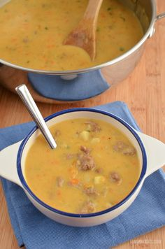 Slimming Eats Cheeseburger Soup - gluten free, Slimming World and Weight Watchers friendly