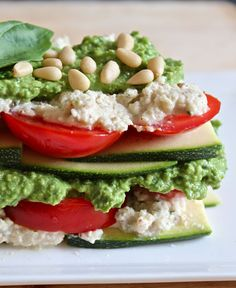 Raw Zucchini Lasagne: vegan  Can't wait to try this one this summer!