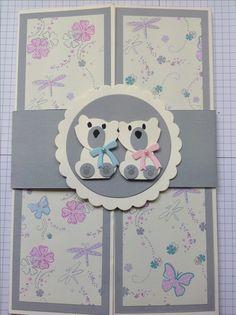 Stampin up Fuchsstanze  Babykarte