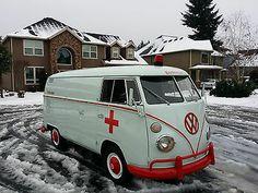 1964 Volkswagen Bus Panel Van Westfalia Vanagon VW Ambulance Red Cross Van | eBay
