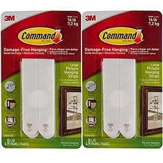 Command 3M 12ct Pack Picture  Frame Hanging Strips Sets Large Size White DamageFree >>> Check out the image by visiting the link. (This is an affiliate link) #WallPhotoFrames
