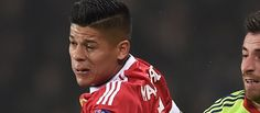 Marcos Rojo watched Stoke City game in away end with Manchester United fans - http://footballersfanpage.co.uk/marcos-rojo-watched-stoke-city-game-in-away-end-with-manchester-united-fans/
