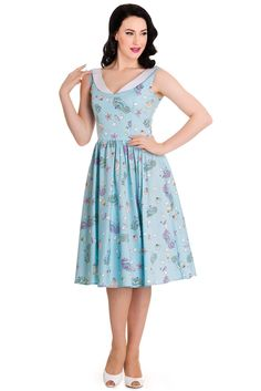 730327eedf1 Hell bunny sea sparkle dress Little seahorses all.over! Fits like a large.