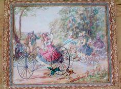 Fred W. Weber Landscape Portrait Cycling Cyclists Victorian Ladies Biking Dogs #Impressionism