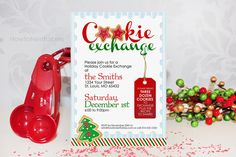 Cookie Exchange Party {free printables}    http://howtonestforless.com/2012/11/08/cookie-exchange-party-free-printables/