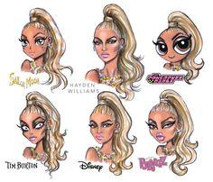 #StyleChallenge by Hayden Williams feat #Beyonce  #SailorMoon #PowerpuffGirls #TimBurton #Disney #Bratz