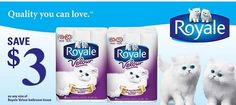 Free Royale Velour Bathroom Tissue with coupon! Printable Coupons, Printables, Toilet Paper, Towel, Coupon Quebec, Bathroom, Free, Utility Pole, Free Samples