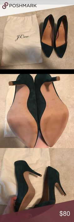 Madewell Mira Heels Beautiful Forest Green Mira Heels! These shoes are in almost brand new condition, worn once inside! Madewell Shoes Heels