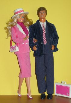 Oh my I found them! I had these and I will forever remember my day to night barbie and ken