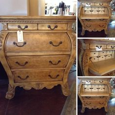 Bombay Chest - Gold/Taupe BombayChest/Secretary - $499.95   Too Good To Be Threw Designer Consignments - San Antonio, TX