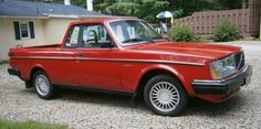 1984 Volvo 240 Pickup Truck. I don't know if these were made...I do know that I have never seen one in America.