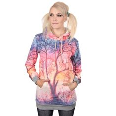 Värikäs Puu -Huppari   Cybershop Girl Fashion, Fashion Tips, Autumn Fashion, Pastel, Winter, Dreams, Shopping, Girls, Style