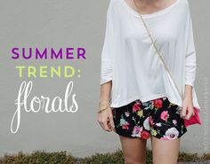 summer trend: florals - Olive & Ivy #floral #trend #style #fashion