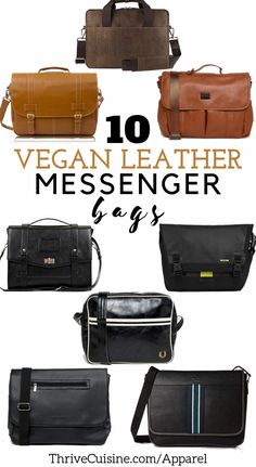 Are you looking for a vegan leather messenger bag? We found 10 options with choices for both men and women that you're going to love. There are also a few unisex options! All from cruelty-free, human-made materials only.