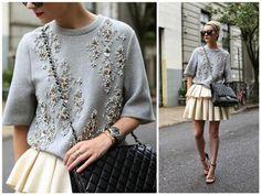 Нежность бусин: 25 стильных идей декора одежды