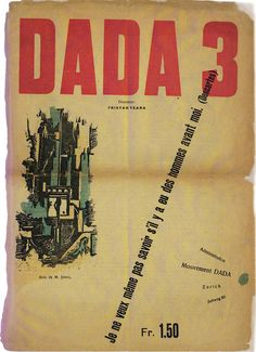 DADA 3 December 1918 Artist: M. Janco  M. Jan| co did cover art for a few of the editions of this seminal magazine of Dadaism.