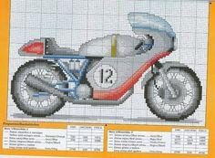motos de punto de cruz regalo | Aprender manualidades es facilisimo.com