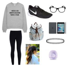 """""""Six months"""" by starbucks-is-bae123 ❤ liked on Polyvore featuring NIKE, Aéropostale and Eos"""