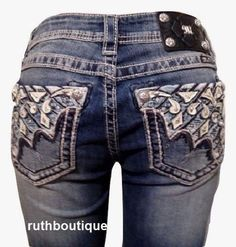 Miss Me Size 25 Ocean Wave Relaxed Boot Jeans XW5983B NWT #MissMe #RelaxedRelaxedBootCut