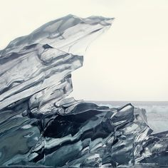 Crystalline - Minimalist Landscape Photography, Jokulsarlon Iceland, Jagged Iceberg, Winter, Cold, Icy Grey Blue, Frozen Water, Lake