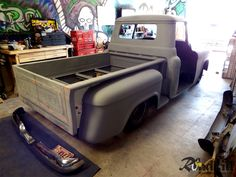 Series 1955 Task Force Custom RestoMod Truck Build Custom Center Console from Scrap Cab Corners ~ Project: 1955 Chevrolet Truck Barn Door Tailgate ~ Project: 1955 Chevrolet Truck Barn Door Tailgate ~ Project: 1955 [More. 55 Chevy Truck, Classic Chevy Trucks, Chevrolet 3100, Chevrolet Trucks, Ls Engine Swap, Custom Center Console, 1955 Chevy, Truck Interior, Flat Bed