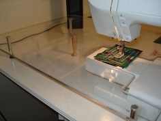 Home Made Plexiglass Sewing Machine Extension Table Can Use Dowels And  Leveling Feet