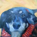 Gone to the Dogs Puppy Portrait Daily Painting Small Oil Painting Pet Portrait #Image of the Day Daily Painters Art Gallery