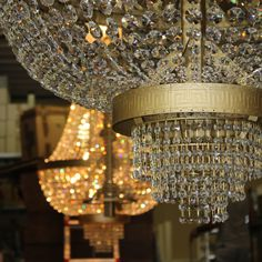 Empire style chandeliers from our Crystal line.   #luxurychandeliers #crystallighting #crystal #beautifulchandeliers #sparkling #luxury #lightingpassion #inspiration #interiors #decor