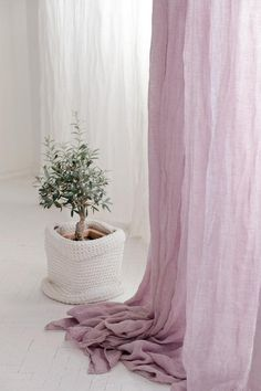 White sheer linen curtains, White canopy made of linen muslin, Perfect white linen drapes Bed Drapes, Sheer Linen Curtains, Patio Door Drapes, White Curtains, Panel Curtains, Bed Linen, White Canopy, Beautiful Curtains, Custom Drapes