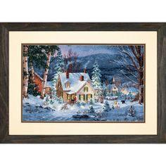La nieve y la luz del hogar