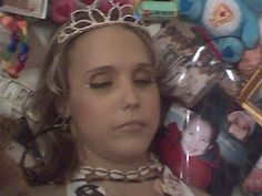 Brittany Cassidy in her open casket during her funeral.
