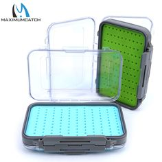 Cheap box doubled sided, Buy Quality fly box directly from China tackle box Suppliers: Maximumcatch Fly Fishing Box Easy-grip Silicone Insert Tackle Boxes Double Side Clear Lid Fly Box Fishing Tackle Box, Fly Fishing, Free Shipping, Tes, Fly Tying, Camping Tips