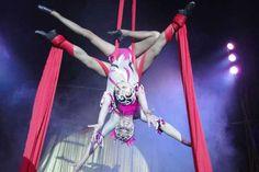 Número do tecido, que integra a maioria dos espetáculos circenses | Arquivo/Rede de Apoio ao Circo