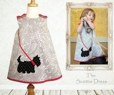 Chicas vestir patrón PDF patrón de costura por MyChildhoodTreasures