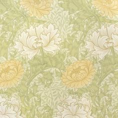 212545 tapeta William Morris w kategorii Archive Wallpapers II / Tapety William Morris / Tapety, 212545 Chrysanthemum Lily Wallpaper, Cream Wallpaper, Feature Wallpaper, Wallpaper Online, Home Wallpaper, Fabric Wallpaper, Wallpaper Jungle, Bedroom Wallpaper, Wallpaper Wallpapers