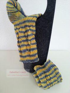 fadenfee´s welt: Socken im QiGong Mustermix gestrickt