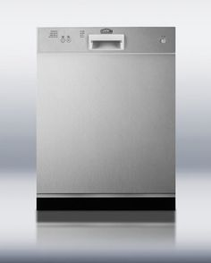 """Dishwasher SS  DW2432SS Height 33.0"""" Width 23.63"""" Depth 23.5"""" Shipping Weight 145.0 lbs. Voltage/Frequency 115 V AC/60 Hz Energy Usage/Year 342.0 kWh/year US Electrical Safety UL Depth with door at 90° 45.5"""" Parts/Labor Warranty 1 Year"""