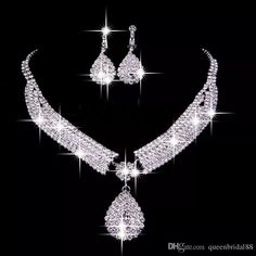 Vintage Two Pieces Jewelry Sets 2018 Luxury Drop Earrings Necklaces Bridal Necklace Hot Sale Cheap Wedding Bridal Accessories Purple Wedding Jewelry Rent Wedding Jewelry From Queenbridal88, $8.05| Dhgate.Com