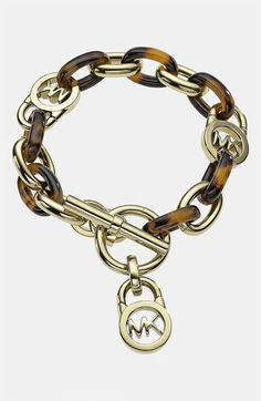 love my michaels :) Michael Kors 'Heritage Link' Toggle Bracelet available at Nordstrom