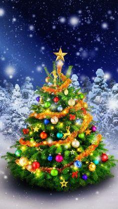 Iphone Christmas, New Year - noel Beautiful Christmas Trees, Christmas Love, Outdoor Christmas, Winter Christmas, Vintage Christmas, Merry Christmas Pictures, Merry Christmas Wallpaper, Christmas Scenes, Xmas Tree