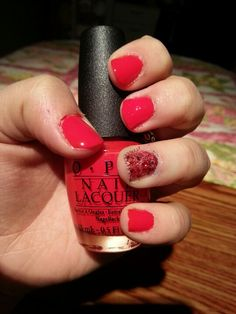 Red My Fortune Cookie (OPI) & Getting Piggy With It (OPI)