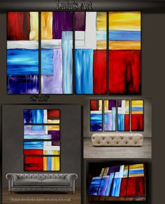 """'Color splash' - 48"""" X 30"""" Original Abstract Art Painting. Everyone knows that accessories complete the home. With several pieces of paintings to choose from, your search for a perfect, one of a kind original artwork for your walls ends here.You don't need to settle for anything less than a perfect look. Enjoy free-shipping throughout USA, Free hanging hardware and 30-day return."""