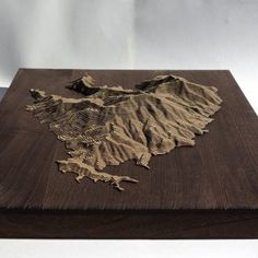 I did something simi...-idryo Map Design, Wood Design, Contour Line Art, Fantasy Map Making, Epoxy Table Top, Imaginary Maps, Landscape Model, Laser Cutter Projects, Architecture Images