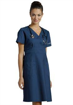 White Cross Mock Wrap Nurse Dress made of Polyester / Cotton. This is a classic style mock wrap A-line dress. Cute Nurse, Medical Uniforms, Nursing Uniforms, Nursing Dress, Nursing Clothes, Textiles, White Crosses, Dress Making, White Dress