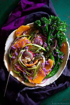 Shaved Asparagus Salad via Bakers Royale