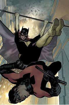 Batgirl Vs. Nightwing by Adam Hughes