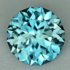 MJ4007 - 3.67ct - blue Zircon - Cambodia calibrated 9 x 5.42 mm clean, custom cut, standard heat, $365 shipped